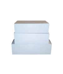 Коробка для пирожных, белая (картон 320 г/м²)